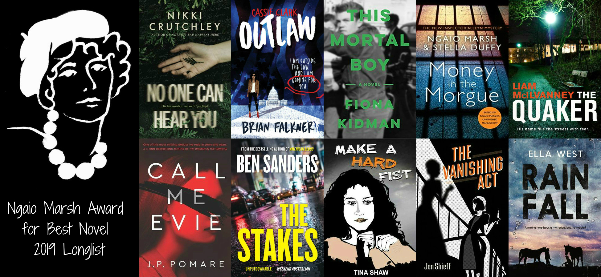 2019 Ngaio Marsh Awards Longlist